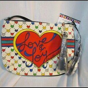 Brighton Love & Joy Crossbody Canvas purse